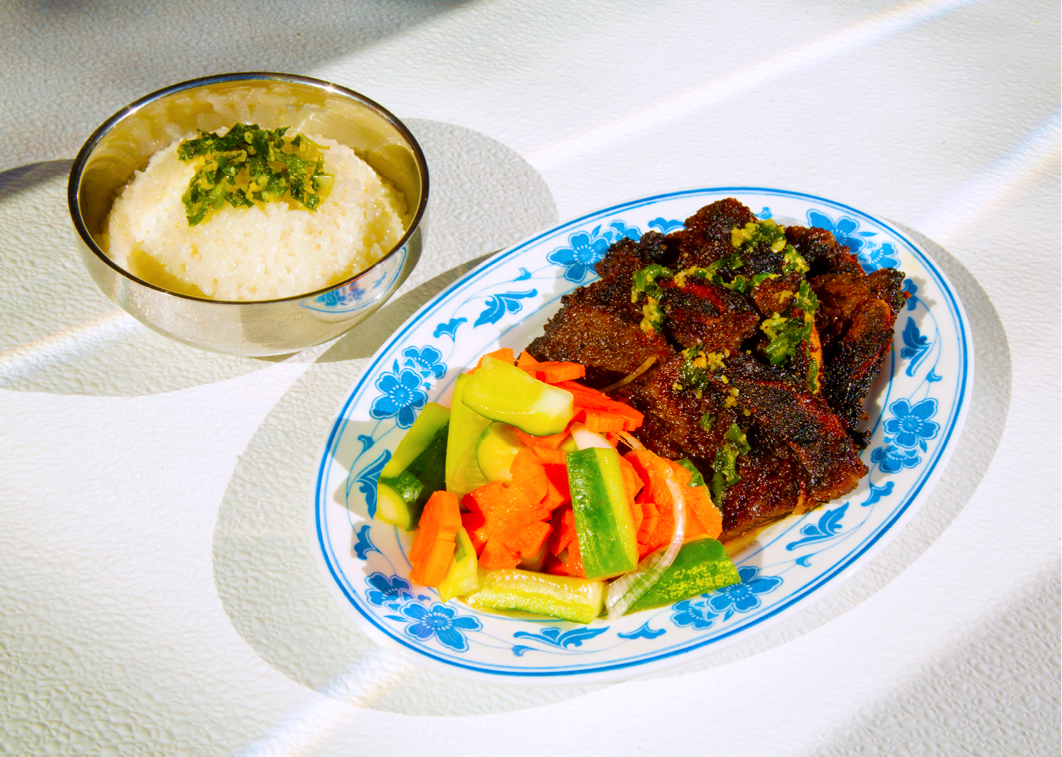 Grilled Beef Short Rib Plate