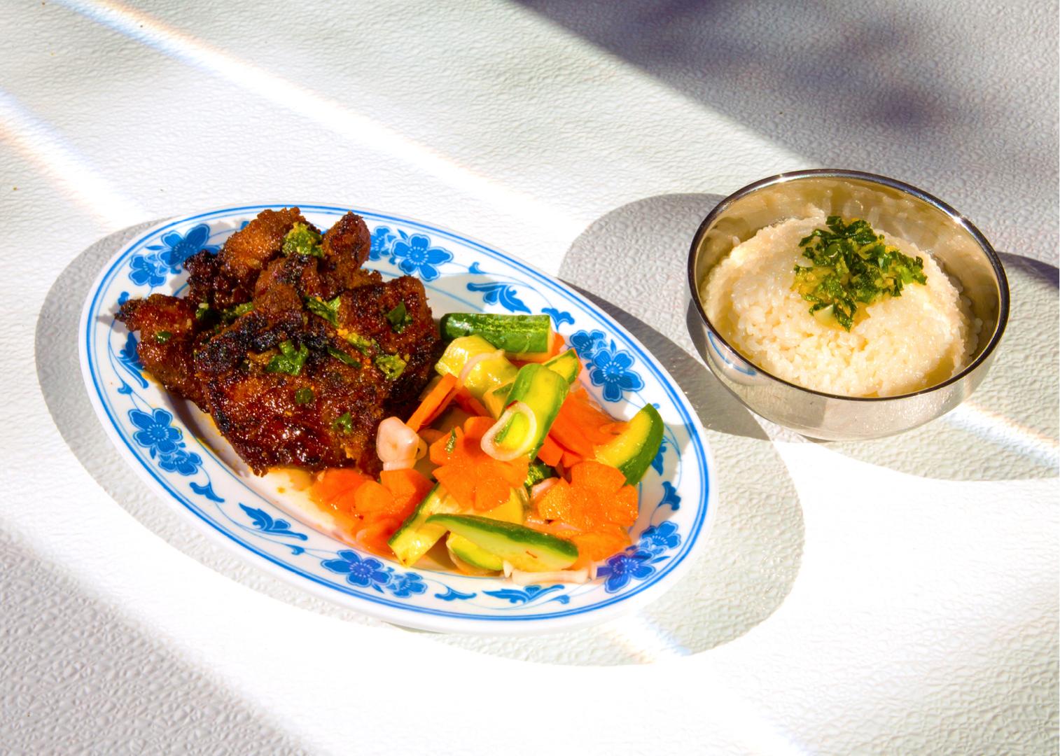 Grilled Pork Shoulder Rice Plate